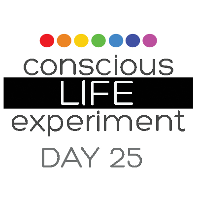Conscious Life Experiment Day 25 ©2013 Sacred Square Art and Design