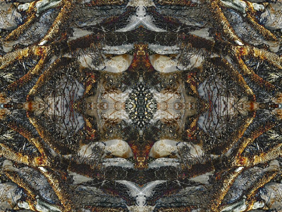 """""""Joshua Tree Ex. 1"""" is a psychedelic, visionary and abstract art work created by Sacred Square Art and Design while dream tripping in the high desert of California. ©2015"""